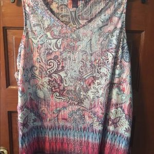 V Neck sleeveless knit top